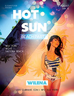 阳光海滩派对海报
