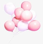 一簇粉色气球