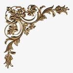 欧式金属边框花纹