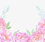 彩铅牡丹花边