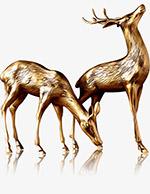 金鹿中式摆件
