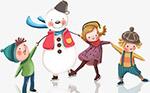冬天节日卡通人物