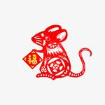 鼠年艺术剪纸