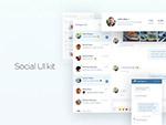 社交媒体UI模板