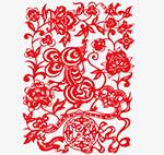 2020鼠年红色剪纸