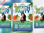 夏日沙滩派对海报