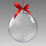 透明圣诞球元素