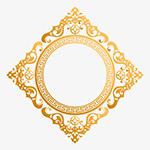 金色新年装饰