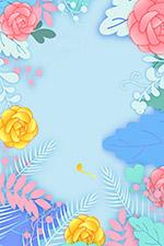 粉彩花卉背景
