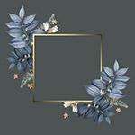 植物装饰金色边框