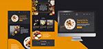 美食网页界面