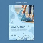 世界海洋日传单
