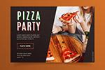 披萨美食横幅