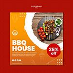 BBQ美食宣传单