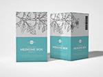 包装药盒包装样机