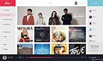 音乐软件界面模板