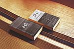 木质纹理名片模板