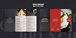 简约西餐厅折页菜单