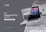 浮动的MacBook样机