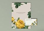 花卉封面卡片样机