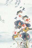中国风荷塘月色
