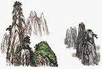 手绘中国山水元素