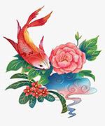 中国风锦鲤插画