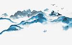 中国风山水元素