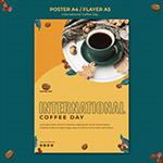国际咖啡日宣传单