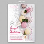马卡龙甜品宣传单