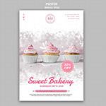 美味甜品面包店海报