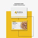 披萨店主题名片
