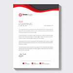 红黑拼接商务信纸