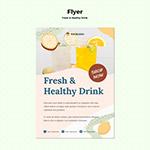 果汁宣传单