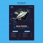 海鲜创意宣传单