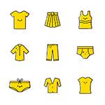 黄色系列服装图标