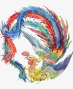 七彩国潮凤凰