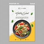 健康沙拉午餐海报