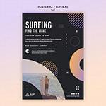 冲浪课程宣传单