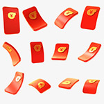 红包飘落高清素材