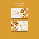 美味披萨食物卡片
