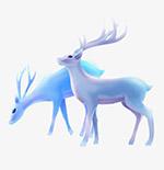 色彩斑斓的麋鹿