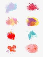 多彩水墨图案