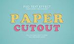 纸张剪裁效果立体字