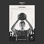 复古篮球广告海报