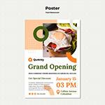 食品概念海报模板