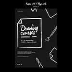 黑色创意草图概念传单