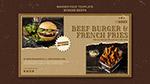 汉堡餐厅横幅模板