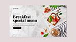 早餐食品横幅模板