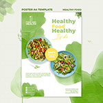 健康食品概念海报